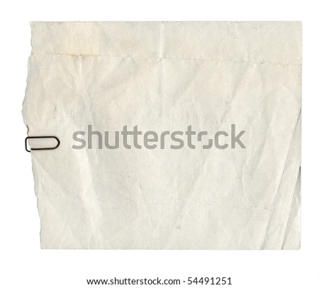 Blank paper page of a note pad - isolated over white background