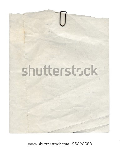 Blank paper page of a note pad - isolated over white background - stock photo