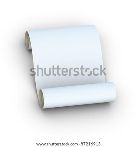 Blank Paper Scroll - stock photo