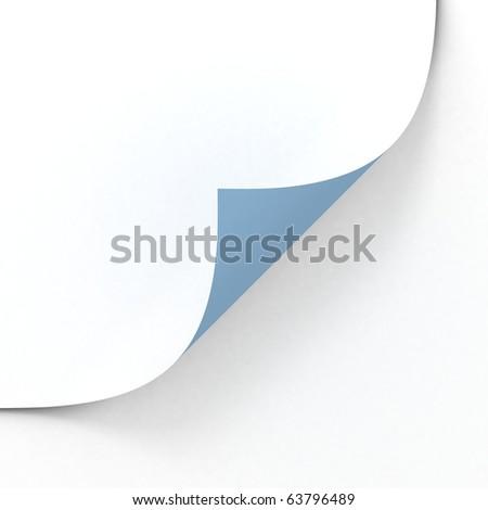 blank paper sheet - stock photo