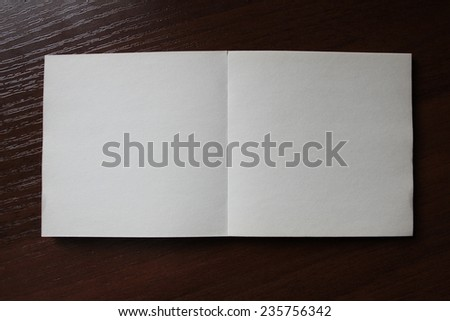 Blank paper square  on the grunge background for your design - stock photo