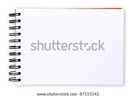 Blank paper table on white background (with clipping paths) - stock photo