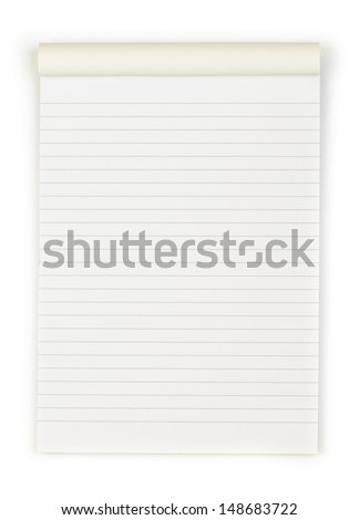 blank Paper tablet with line - stock photo