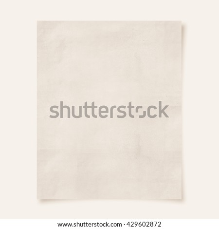 blank paper (Vintage filter effect used) - stock photo