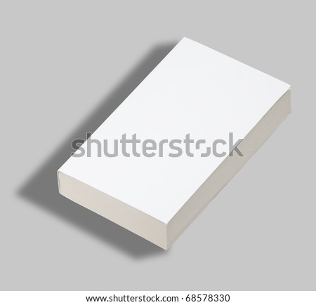 Blank paperback book white cover w clipping path - stock photo