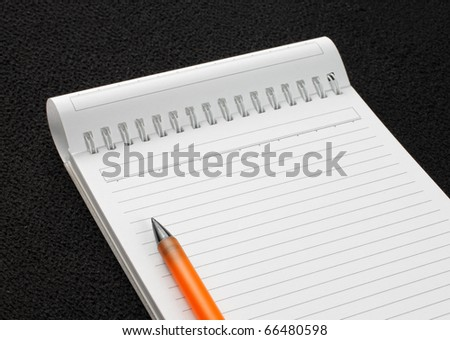 Blank papers and pen - stock photo
