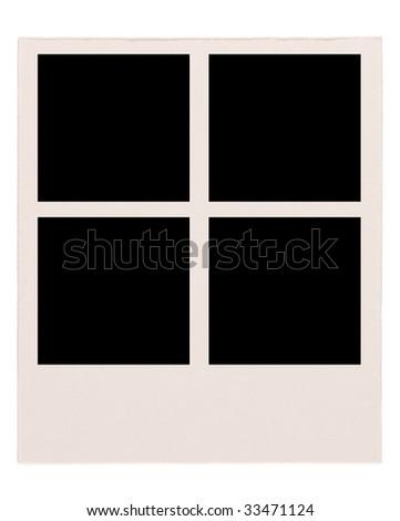 Blank passport photo - stock photo