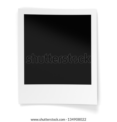Blank photo frame isolated on white background. Computer generated image with clipping paths - stock photo
