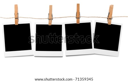 Blank photo frames on line - stock photo