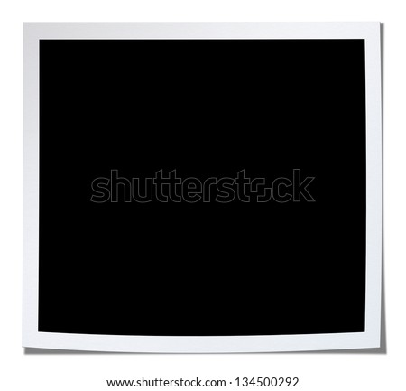 Blank photo.Included clipping path. - stock photo