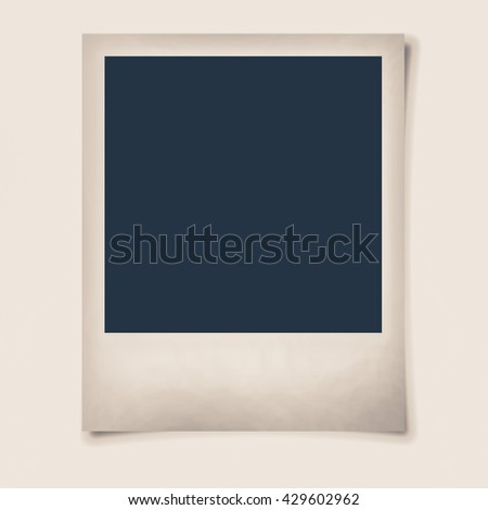 Blank photo (Vintage filter effect used) - stock photo