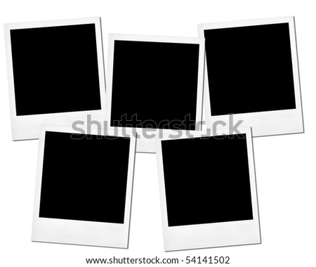 Blank photos isolated on a white