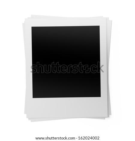 Blank photos , Isolated on white background  - stock photo