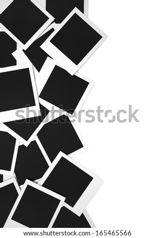 Blank photos , Isolated on white background  - stock photo