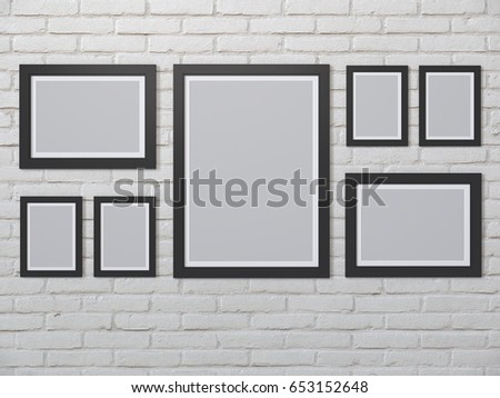 Blank Picture Frame Template Set Isolated Stock Illustration ...