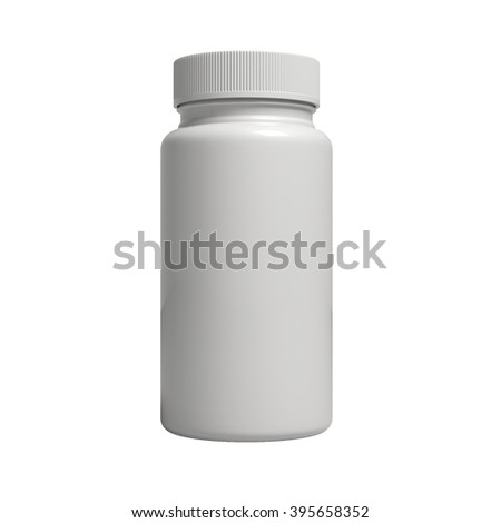 blank pills bottle standing up