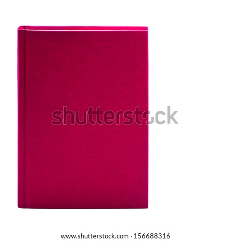 Blank pink hardcover book isolated on white background with copy space  - stock photo
