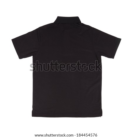 blank polo shirt (back side) on white background
