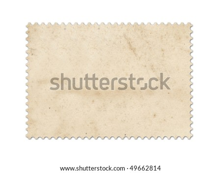 Blank post stamp scanned with high resolution. Saved with clipping path. - stock photo