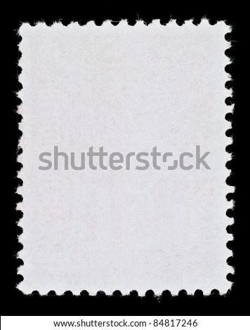 Blank Postage Stamp Framed by Black Border - stock photo