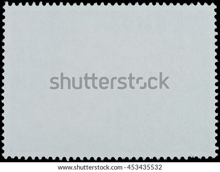Blank postage stamp paper on a black background