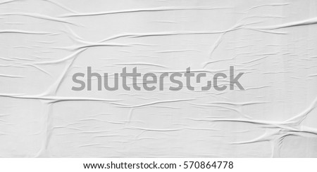 Blank Poster Texture Crumpled Creased
