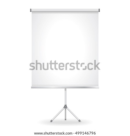 Blank presentation screen illustration isolated on white