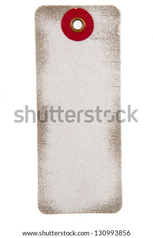 blank price label on white background - stock photo