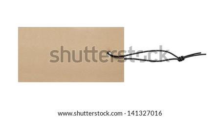 Blank price label tag - stock photo