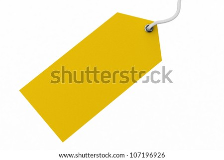 Blank price tag - stock photo