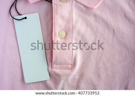 blank price tag on polo shirt