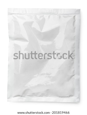 Blank product package isolated on white with clipping path