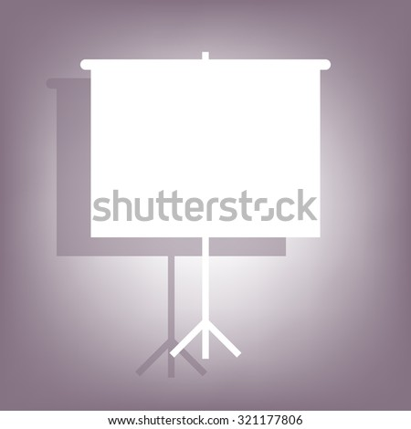Blank Projection screen - stock photo