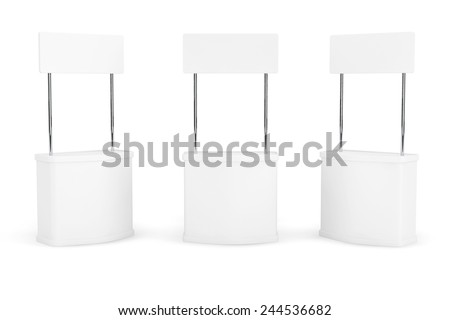 Blank Promotion Stands on a white background - stock photo