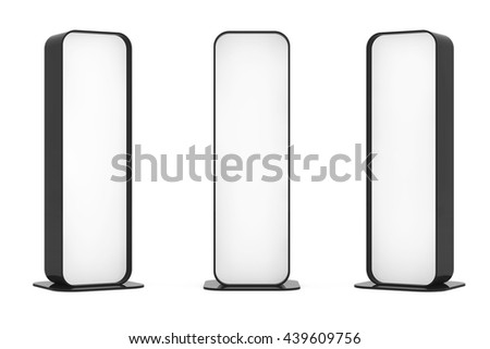 Blank Promotion Stands on a white background. 3d Rendering - stock photo