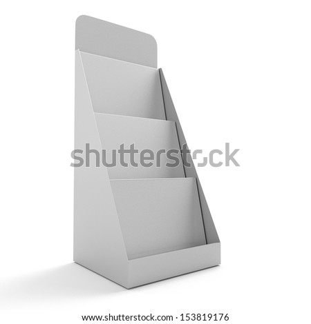 blank rack or stand for magazines - stock photo
