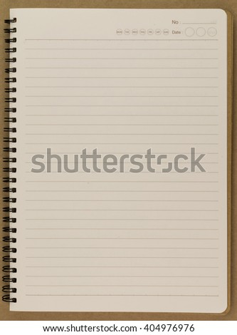 blank realistic spiral notepad notebook