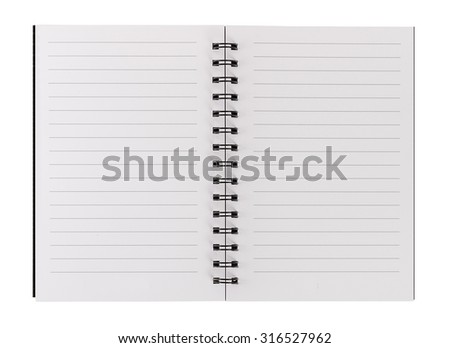 blank realistic spiral notepad notebook isolated