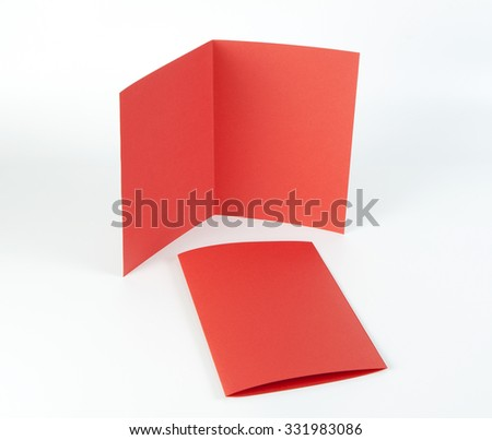 Blank red booklet on white background
