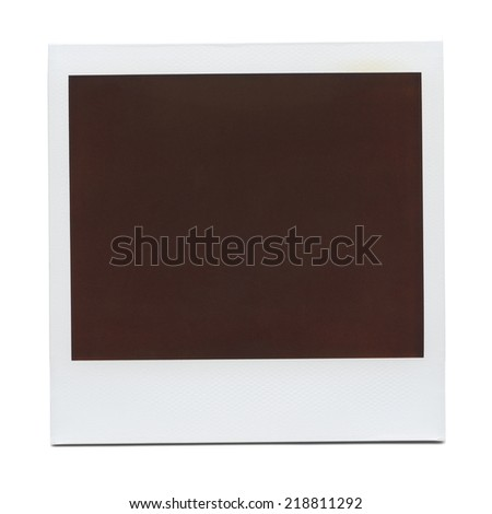 Blank Retro Photo Frame. - stock photo