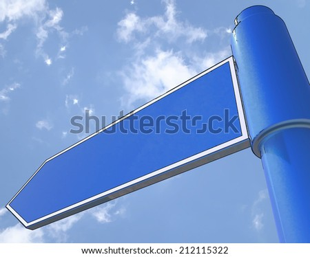 Blank Road Sign Showing Copy space For Message