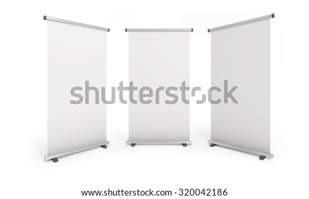 Blank roll-up banners. Path save.