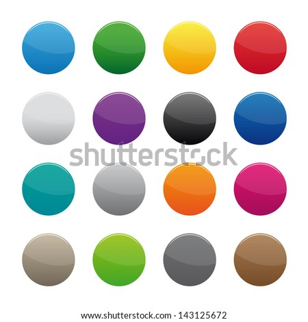 Blank round buttons. Vector available. - stock photo