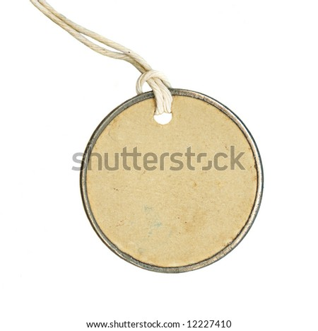 Blank Round label, empty for you to add your own text. - stock photo