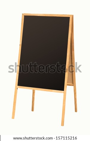 Blank sandwich board isolated on white background - stock photo