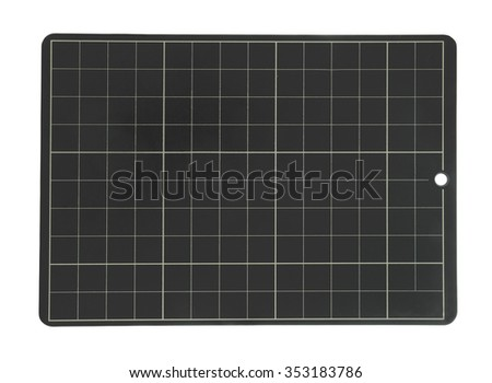 Blank school or chalk board isolated on white background