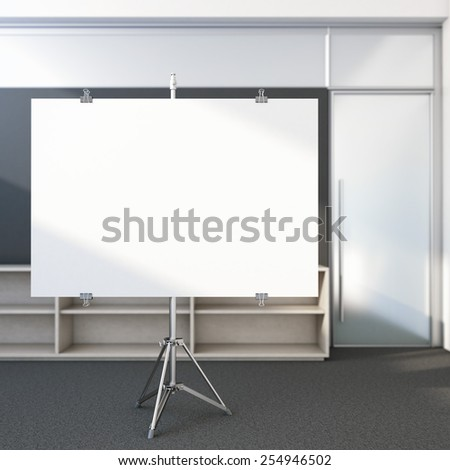 Blank screen in the office. 3d rendering - stock photo