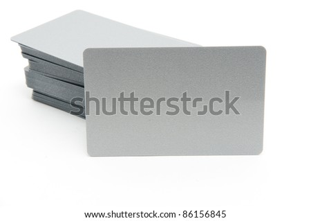 blank security ID badges - stock photo