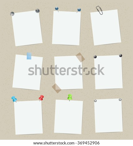 blank set of stickers with pins. design template. raster version