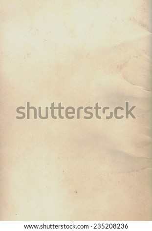 Blank sheet of light brown paper useful as a background - stock photo